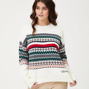 Tommy Hilfiger New Ivory Sweater sz Large BNWT